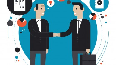 Business partnership flat illustration